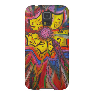 Kitty Feather Flowers Galaxy S5 Case