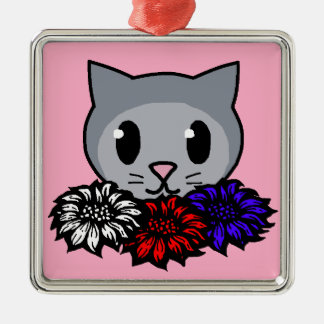 Kitty Flowers for Kids Christmas Tree Ornaments