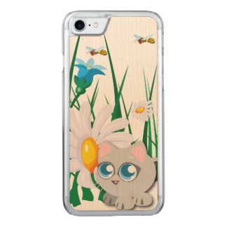 Kitty Garden Carved iPhone 8/7 Case
