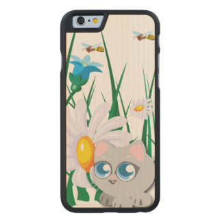 Kitty Garden Carved Maple iPhone 6 Case