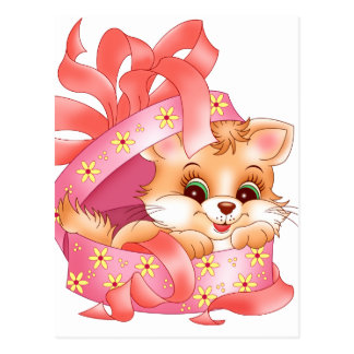 Kitty gift postcard