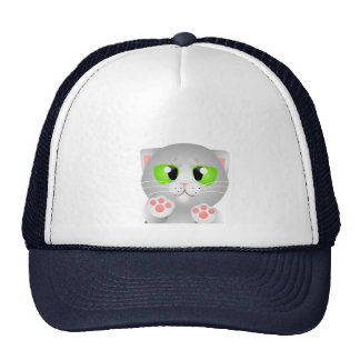 Kitty - Gray Shorthair Mesh Hats