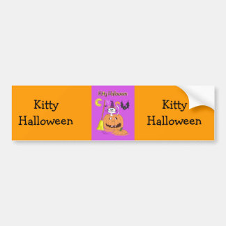 Kitty Halloween Bumper Stickers