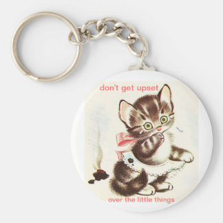 kitty has accident poop keychain