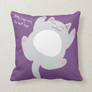 Kitty hugs are the best hugs cushion
