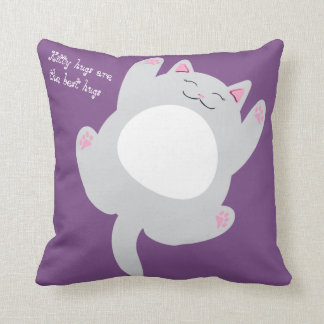 Kitty hugs are the best hugs throw pillow