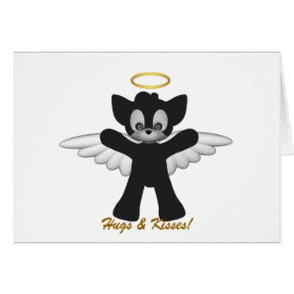 Kitty Hugs N Kisses Card