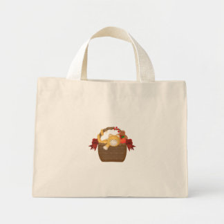 Kitty In A Basket Floral Bag