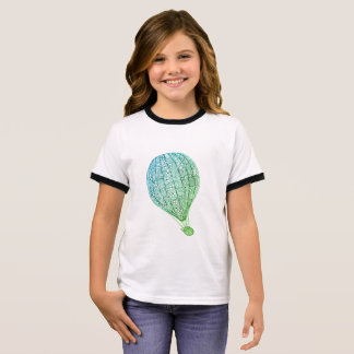 Kitty in a hot air balloon ringer T-Shirt