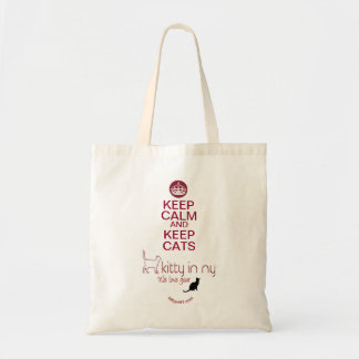 kitty in NY - keep calm tote bag