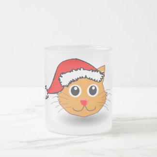 Kitty in Santa Hat Mug