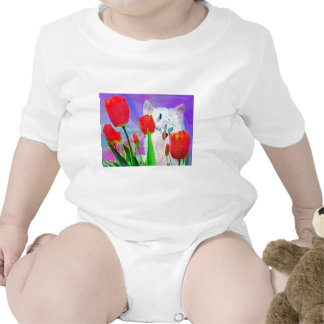 Kitty in the Tulips Romper