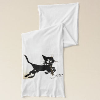 Kitty is scarfing! scarf