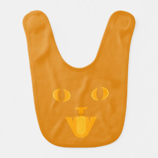 Kitty Jack-O'-Lantern Bib