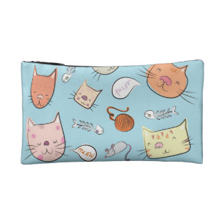 Kitty Kat Cosmetic Bags