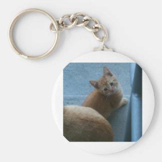 Kitty Kat iPhone 4 Case Basic Round Button Key Ring