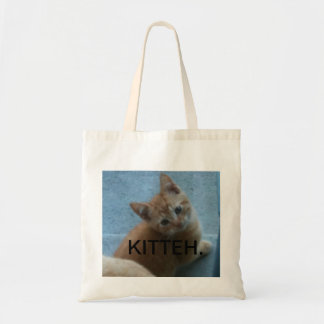 Kitty Kat iPhone 4 Case Budget Tote Bag