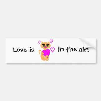 Kitty Kat With Heart Products Bumper Sticker
