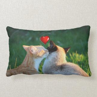Kitty kiss lumbar pillow