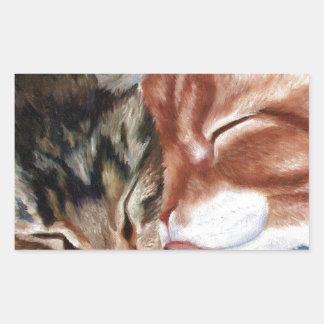 Kitty Kisses Rectangular Sticker