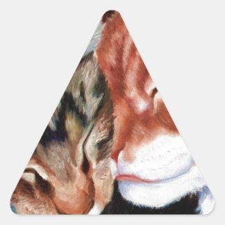 Kitty Kisses Triangle Sticker