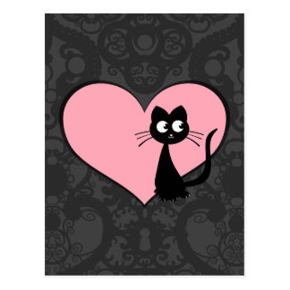 Kitty Kuro Love III Postcard
