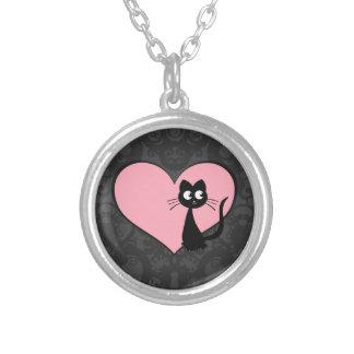Kitty Kuro Love III Round Pendant Necklace
