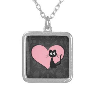 Kitty Kuro Love III Silver Plated Necklace