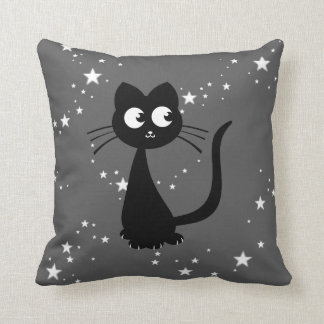 Kitty Kuro Throw Pillow