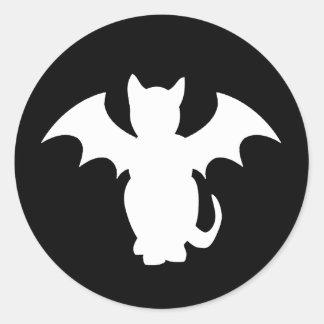 Kitty Lectro Gothic Cat Bat Classic Round Sticker