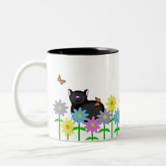 Kitty Life Two-Tone Coffee Mug