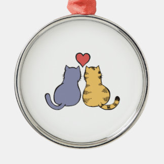Kitty Love Silver-Colored Round Decoration