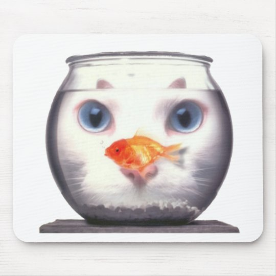 Kitty Lunch Mouse Mat