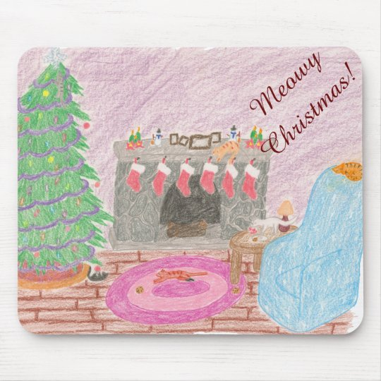 Kitty-mas Mischief (christmas) Mouse Pad