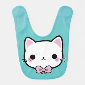 kitty meow bib