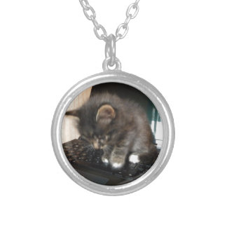 Kitty Mouse Silver Plated Necklace