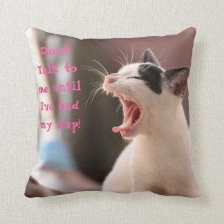 Kitty Nap Throw Cushion