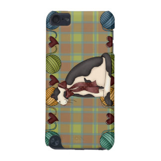 Kitty on Plaid Case iPod Touch (5th Generation) Cover