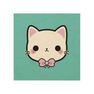 kitty paw wood wall decor