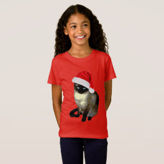 """Kitty Paws"" cute christmas siamese cat shirt"