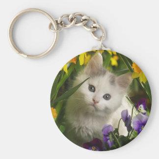 Kitty Peeping Key Chain