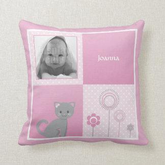 Kitty - pink pillow