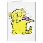 Kitty Play Violin Card