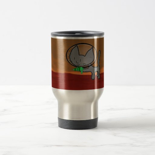 Kitty Plays Alien Hunter Coffee Mug