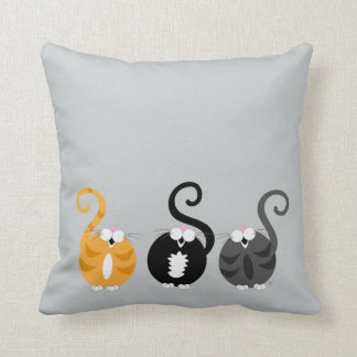 Kitty Rolly Pollies Pillow Cushions
