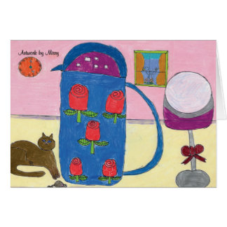 Kitty & Roses Card