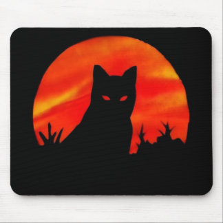 Kitty s Harvest Moon Mouse Pad