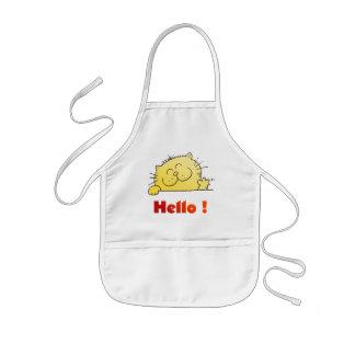 Kitty Says Hello Kids' Apron