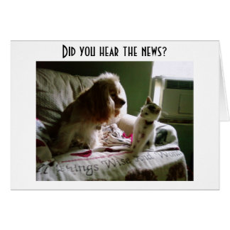 KITTY/SPANIAL SHARE NEWS OF YOUR BIRTHDAY-GROUP GREETING CARD