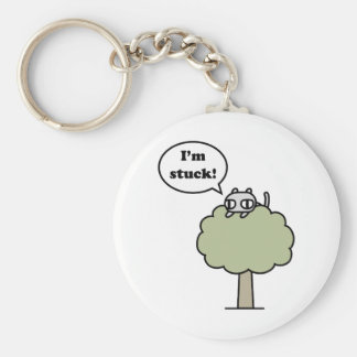 Kitty Stuck In Tree Key Ring